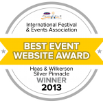 2013 Silver Best Event Website Design Award Winner