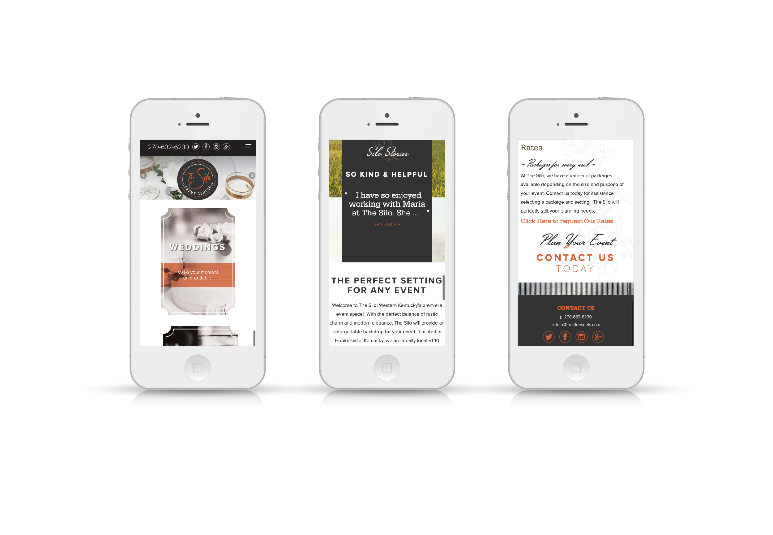The Silo Website On Phone Screen