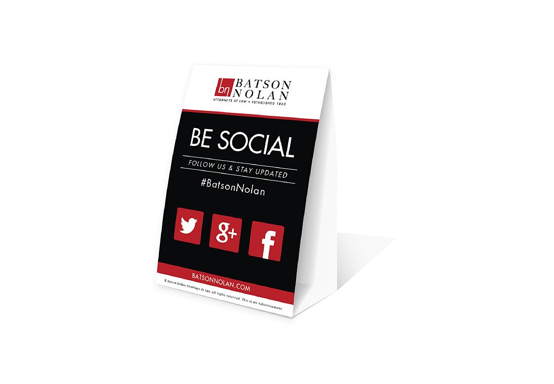Lawyer Tent Card Promo Item