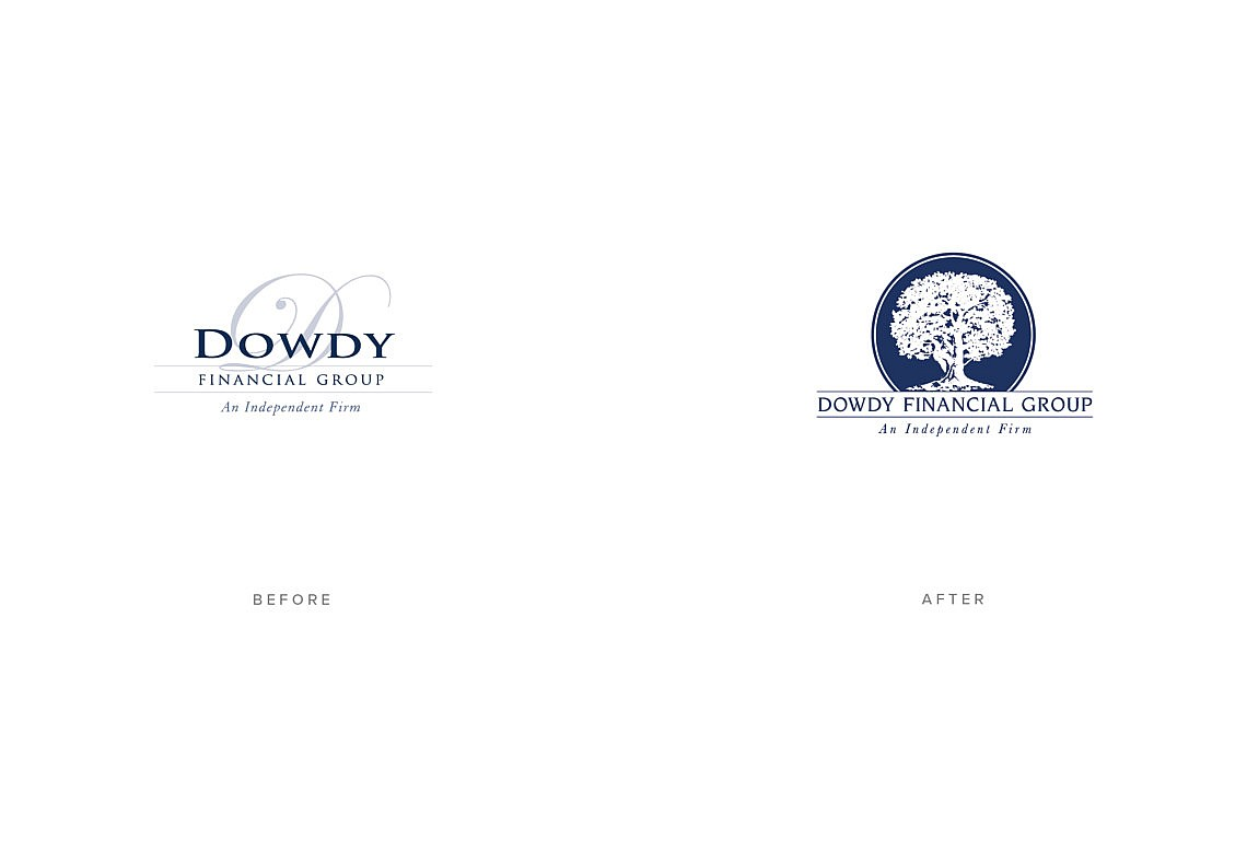 Financial Advisor New Brand Design Before and After