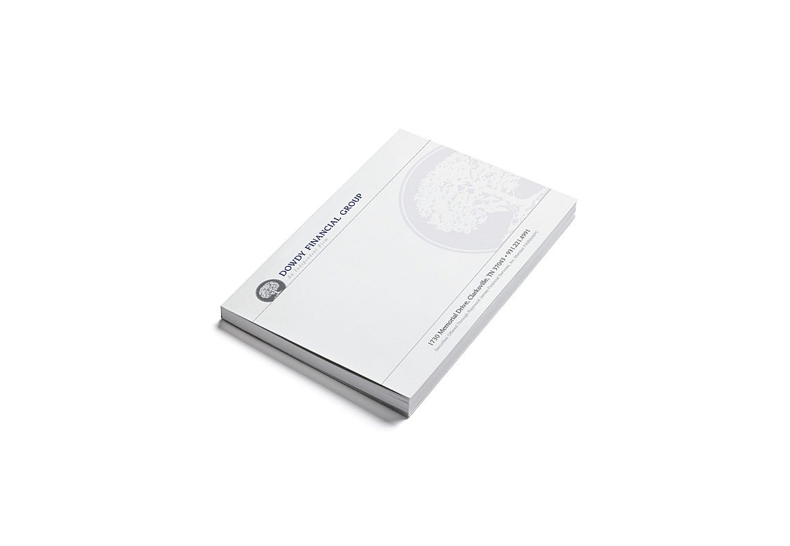 Financial Custom Brand Design Notepad