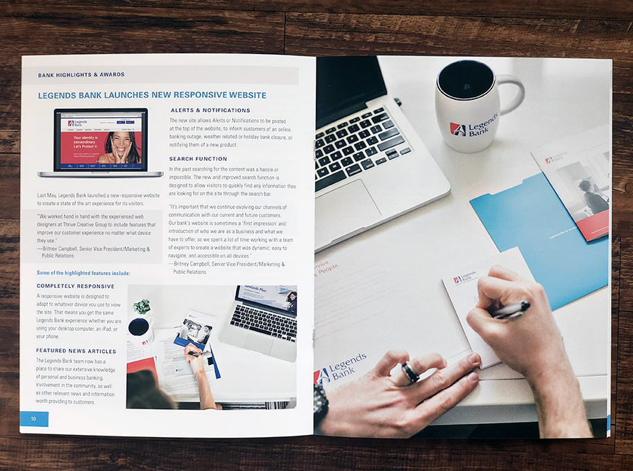 Financial Booklet Page Spread Design Layout