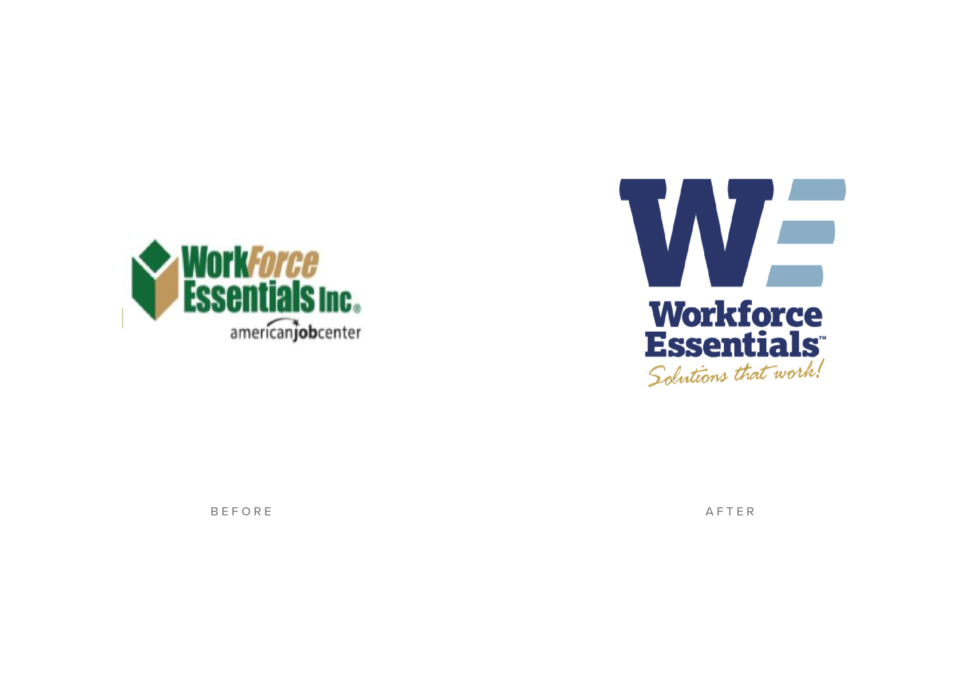 Workforce Essentials Logo Design Before and After