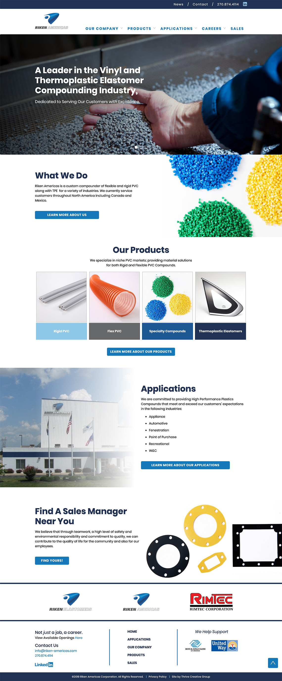 Riken-Americas Corporation Website Development Hopkinsville Ky