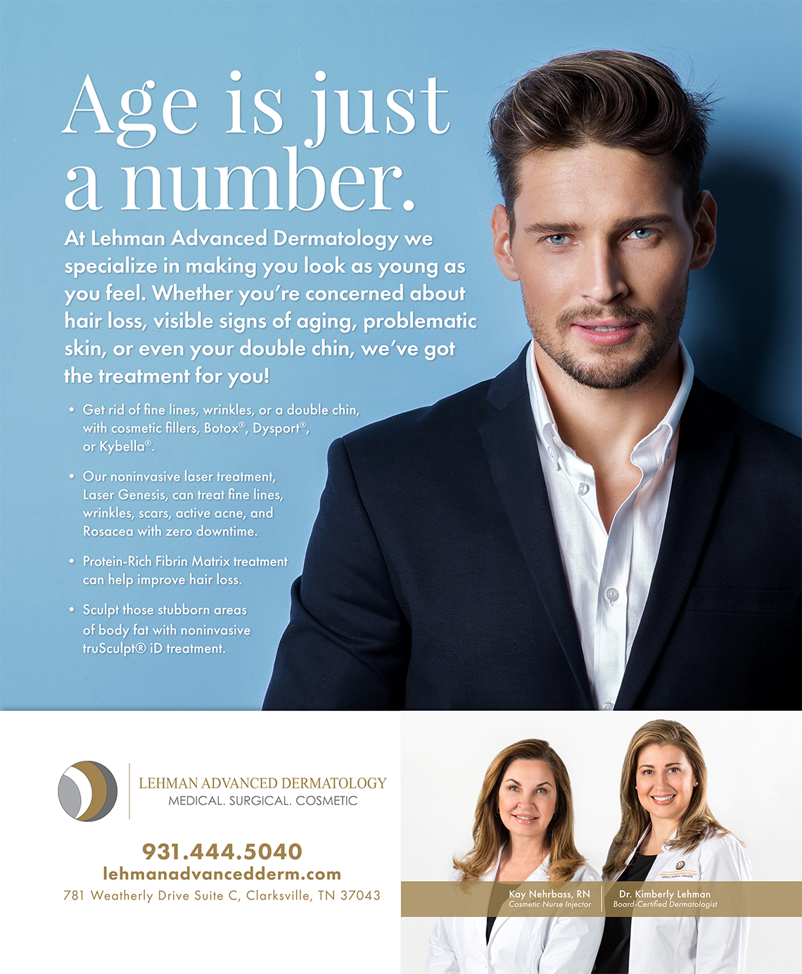 Ad layout and design for Doctors Office